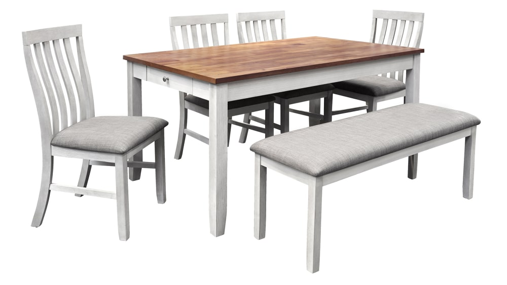 Import Nina Dining Table with 4 Chairs and Bench