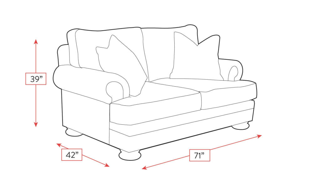 Foster Loveseat Frame Drawing