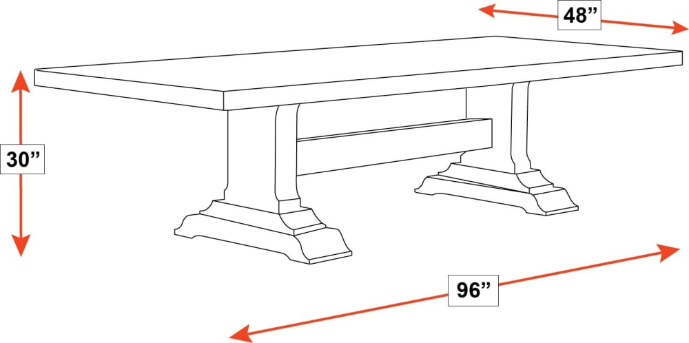 Huntsville Solid Cherry Trestle Wood Dining Table