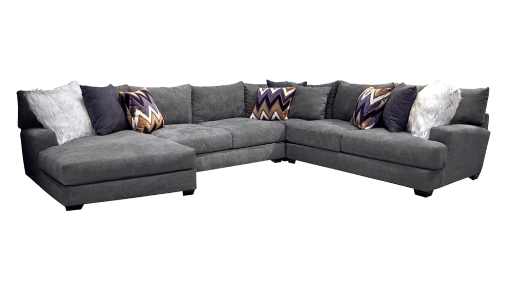 Sensation Charcoal Left Facing Sectional