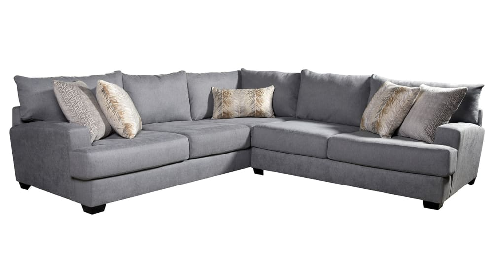 Crosby Silver Sectional