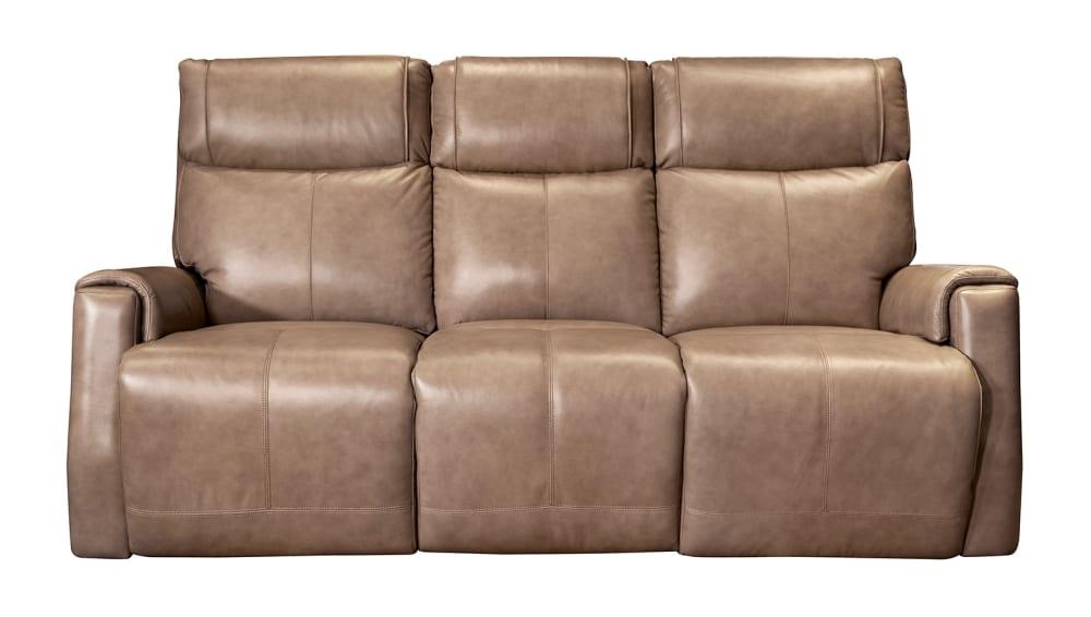 Hardy Leather Power Reclining Sofa W/Power Headrest