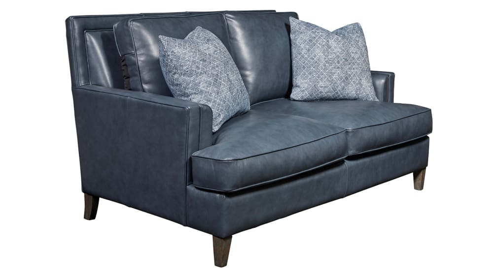 Addison Stormy Leather Loveseat