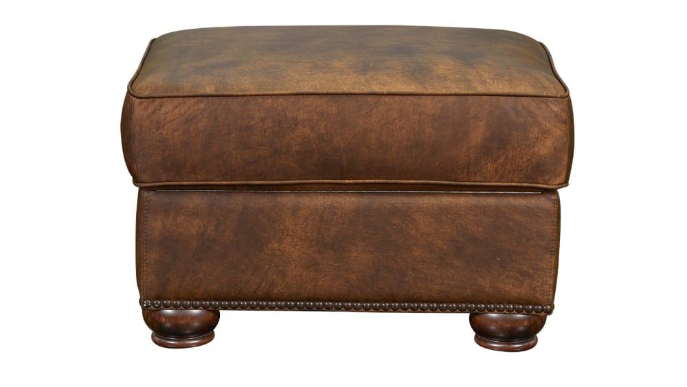 Silverado Soar Leather Ottoman