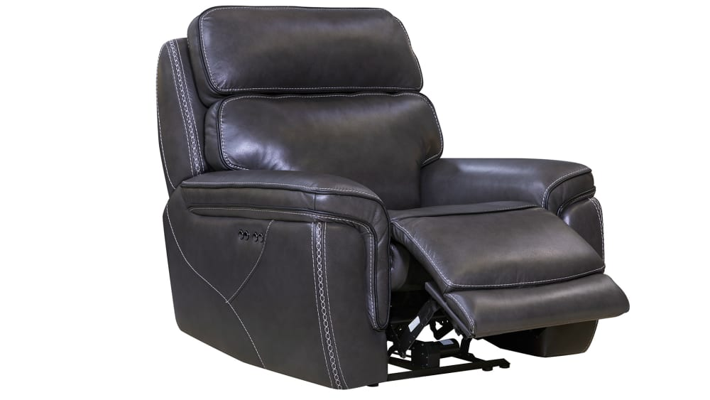Softee Stitch Charcoal Power Recliner