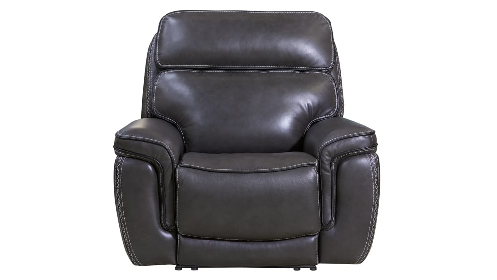 Softee Stitch Charcoal Power Recliner, , hi-res