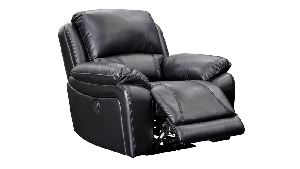 Driftwood Reclining Black Leather Recliner