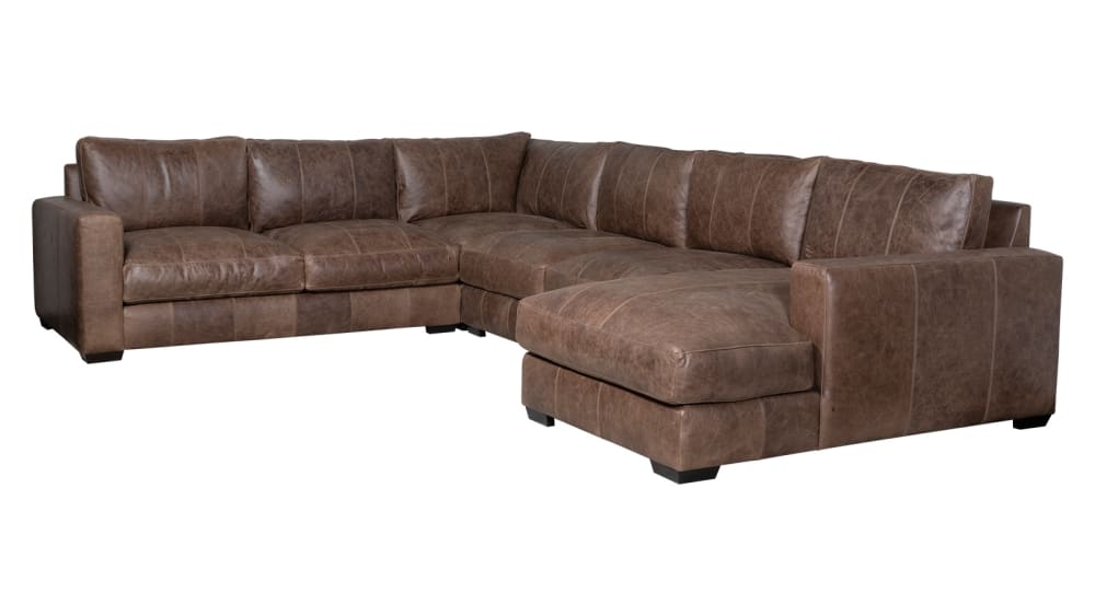 Dawkins Leather Sectional