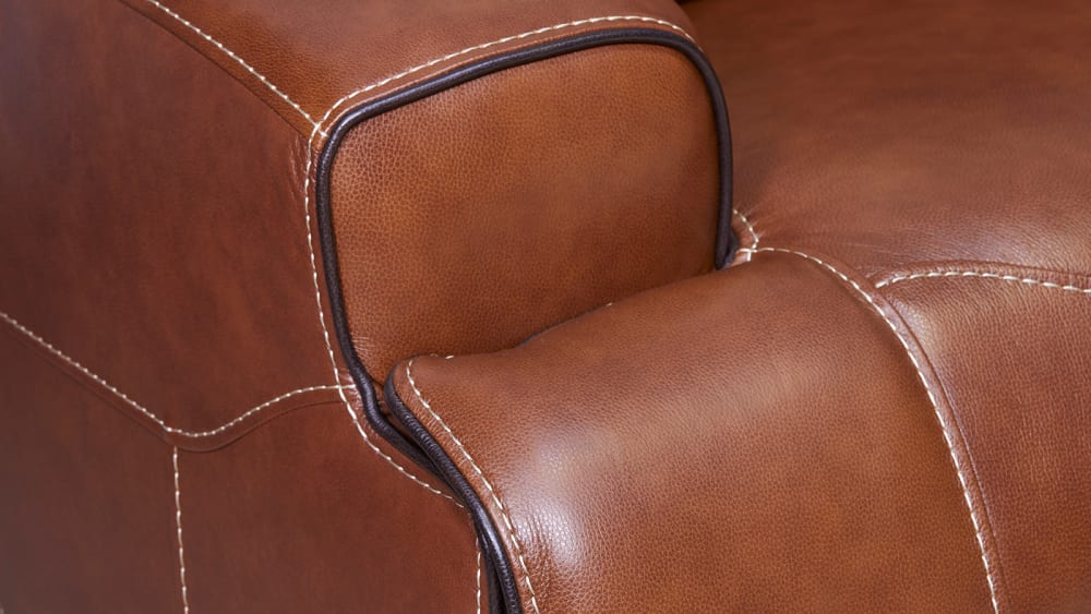 Brown Power Reclining Sectional with Chaise