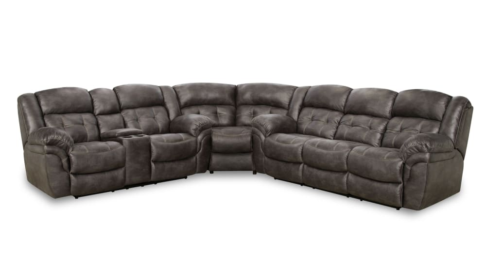 Marcelina Charcoal Power Sectional