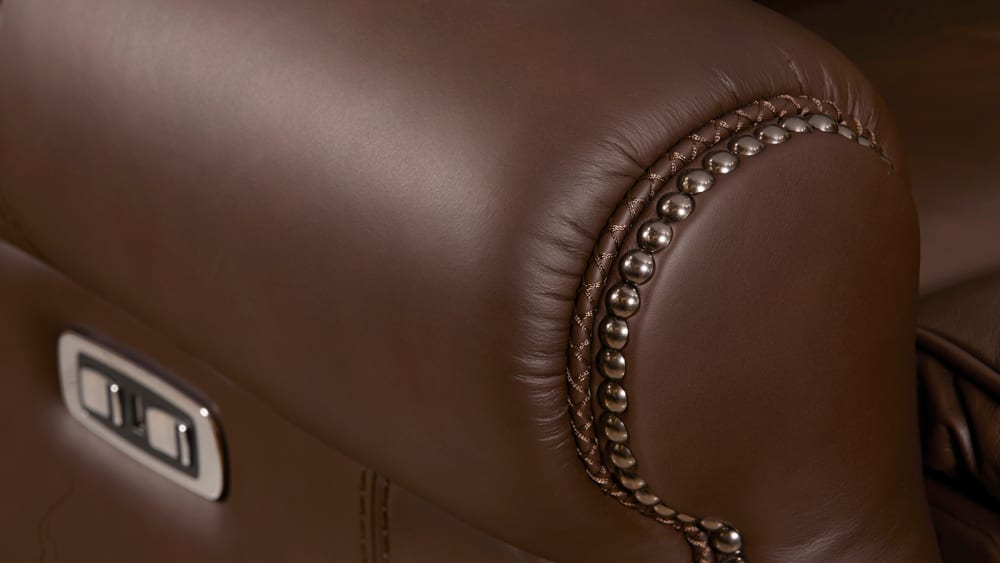 Mcgwire Brown Power Sofa