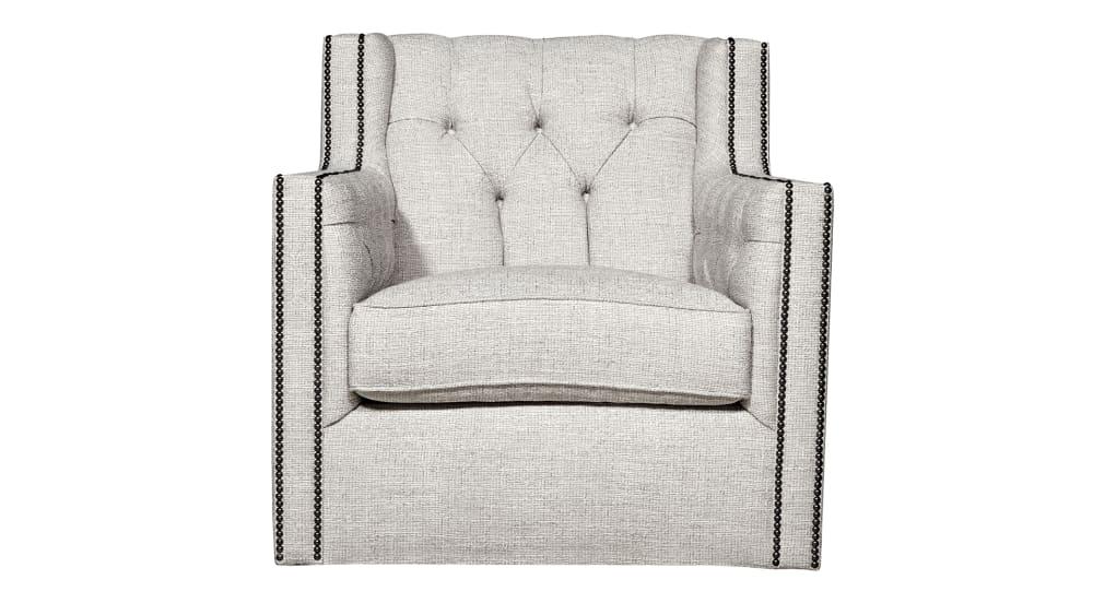 Candace Oatmeal Swivel Chair