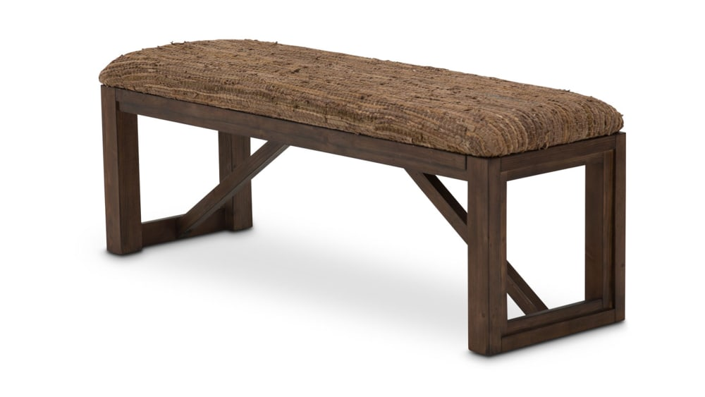 Import Rustic Ranch Bed Bench, , hi-res