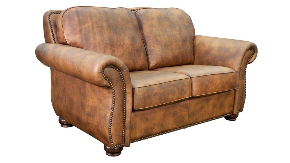 Silverado Soar Leather Loveseat
