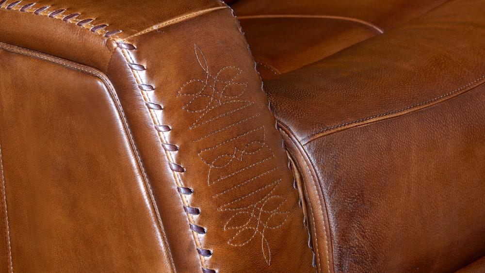 Mustang Saddle Power Reclining Loveseat