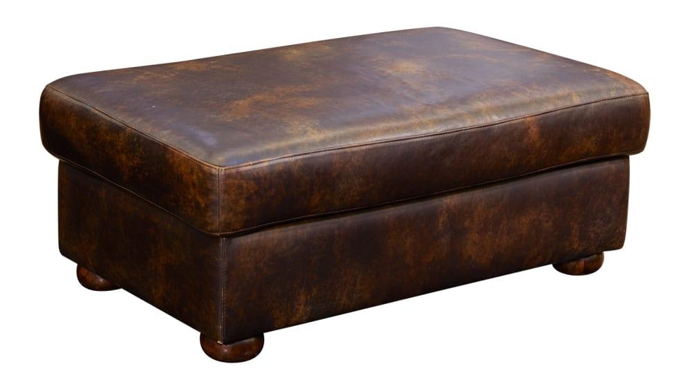 Titan Leather Ottoman
