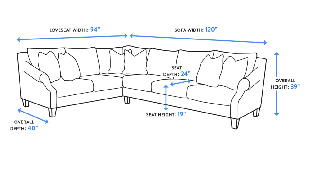 Nora Silver Pine Sectional