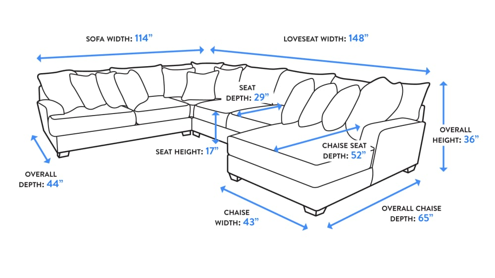 Sensation Charcoal Right Facing Sectional