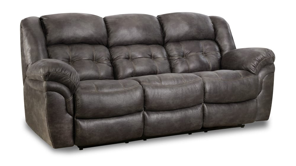 Marcelina Charcoal Power Reclining Sofa