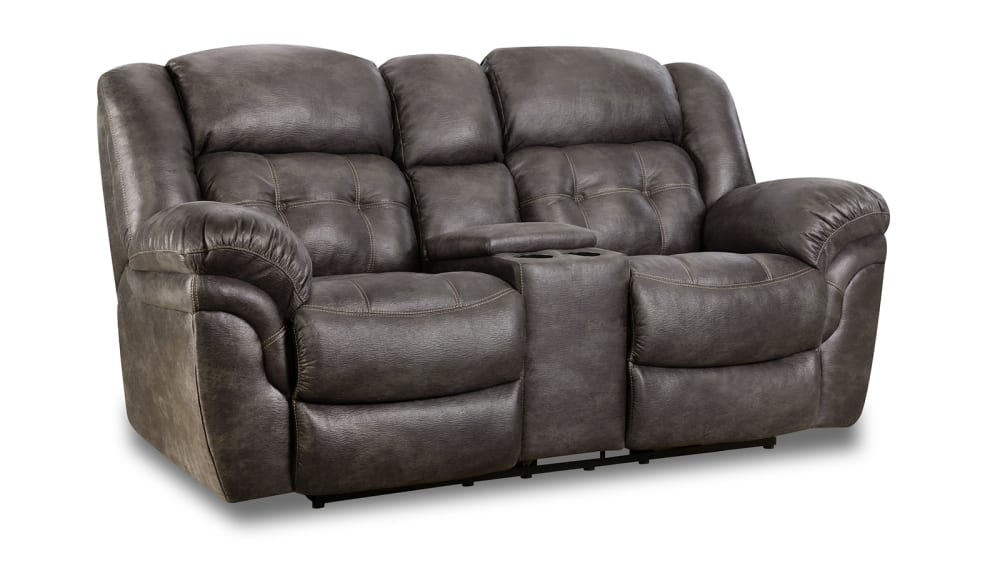 Marcelina Charcoal Power Loveseat