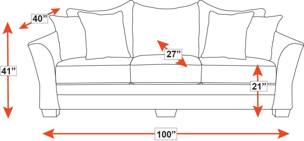 Milky Way Charcoal Sofa, , hi-res