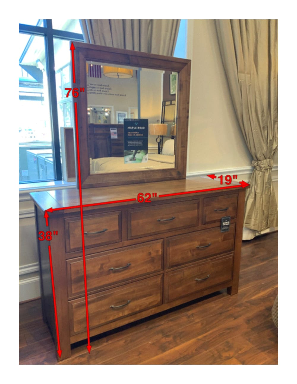 Red Hawk Valley Dresser & Mirror