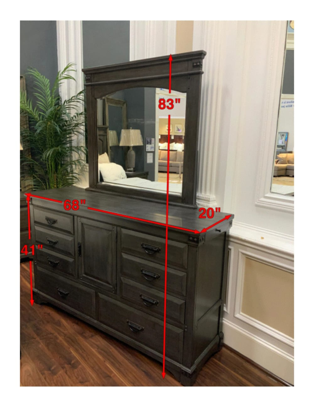 Larchmont Dresser and Mirror