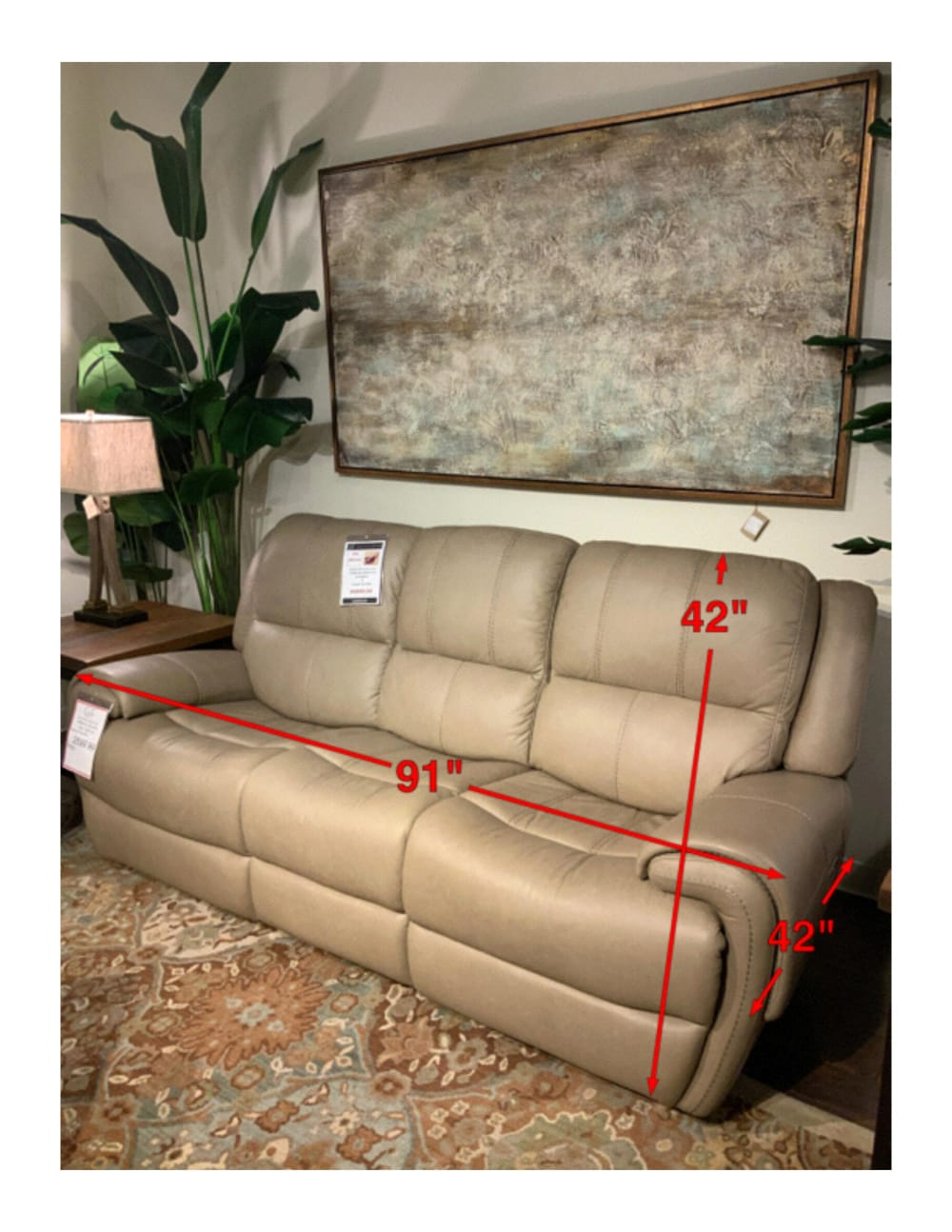 American Leather Power Reclining Sofa W/Power Headrest