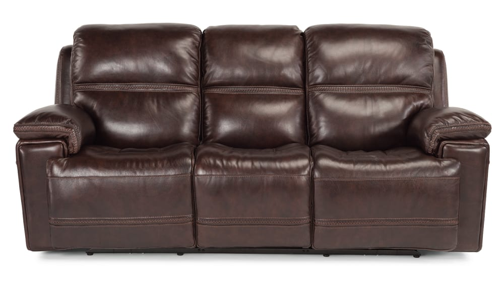 Secretariat Burgundy Power Reclining Sofa
