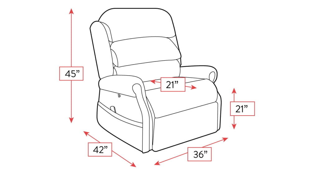 Brown Stellar Comfort Lift Recliner Frame Drawing