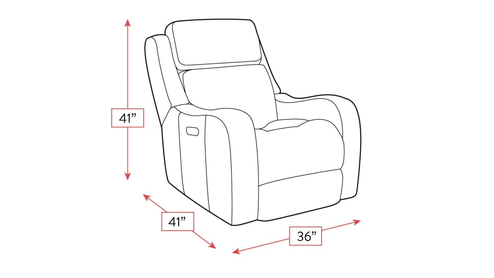 Springfield Power Glider Recliner Frame Drawing