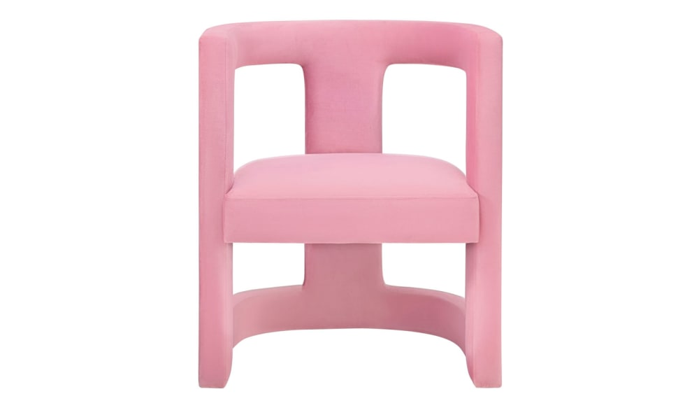 Ada Pink Velvet Chair, , hi-res
