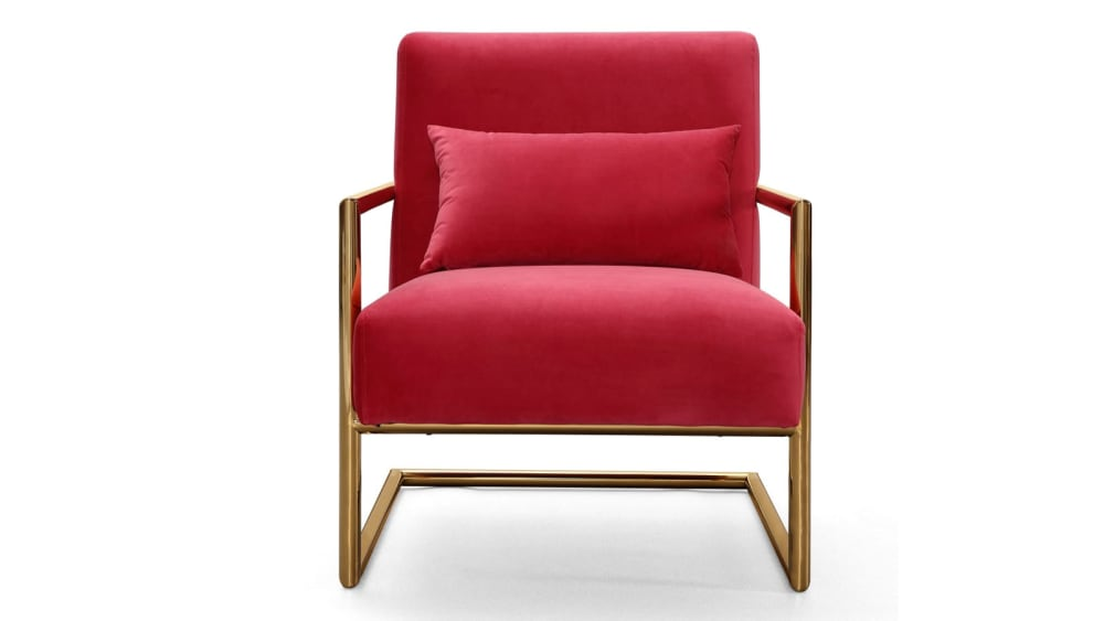 Elle Pink Velvet Chair, , hi-res