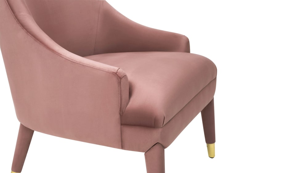 Orchid Velvet Chair, , hi-res
