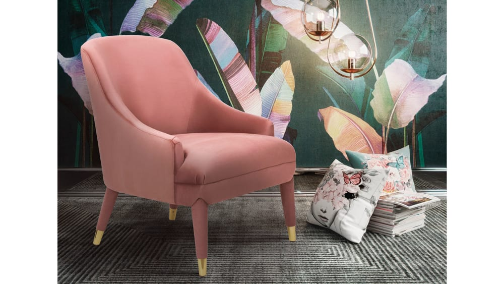 Orchid Velvet Chair, , hi-res