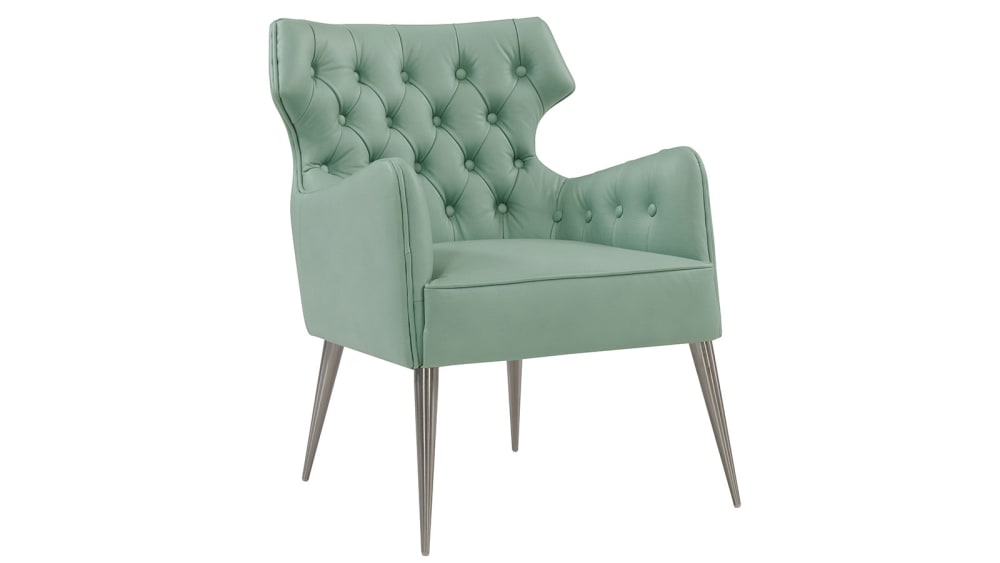 Elsa Mint Vegan Leather Chair