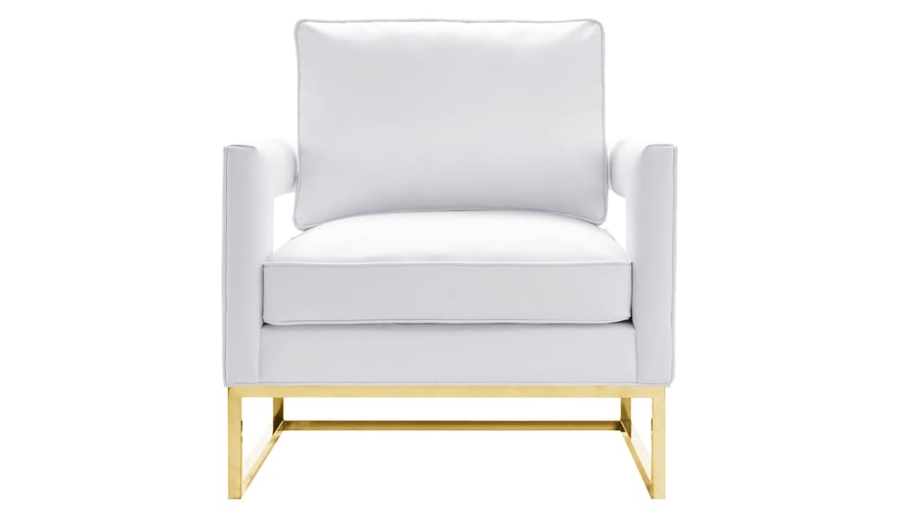 Avery White Leather Chair, , hi-res