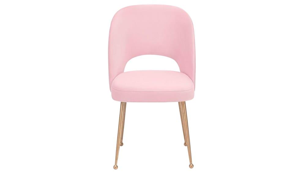 Swell Blush Velvet Chair, , hi-res