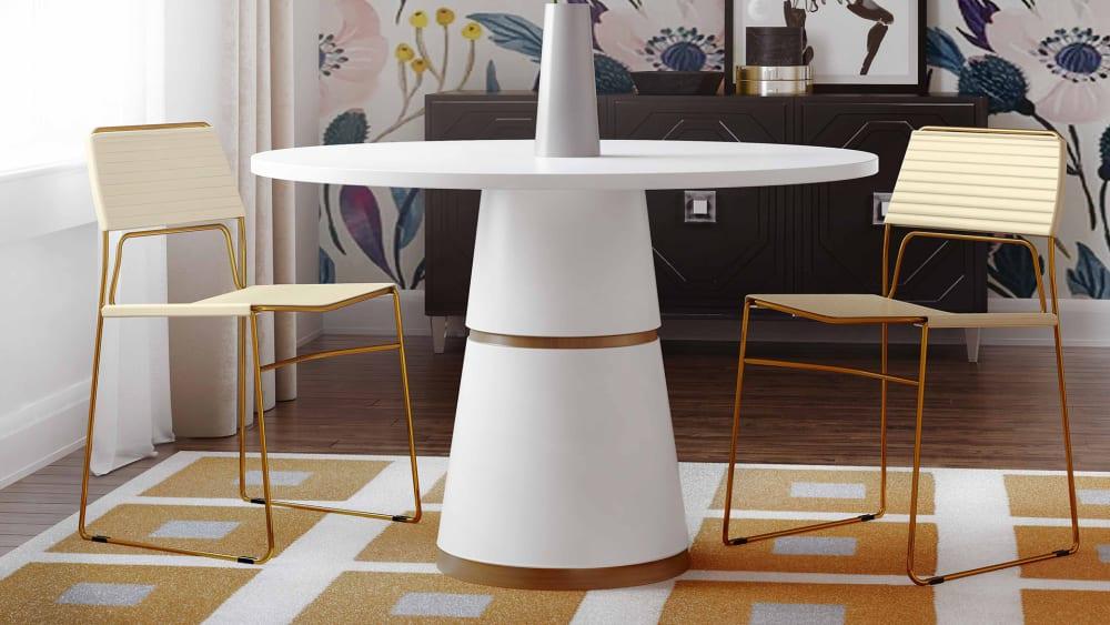 Domani Cream Vegan Leather Chair (Set of 2)