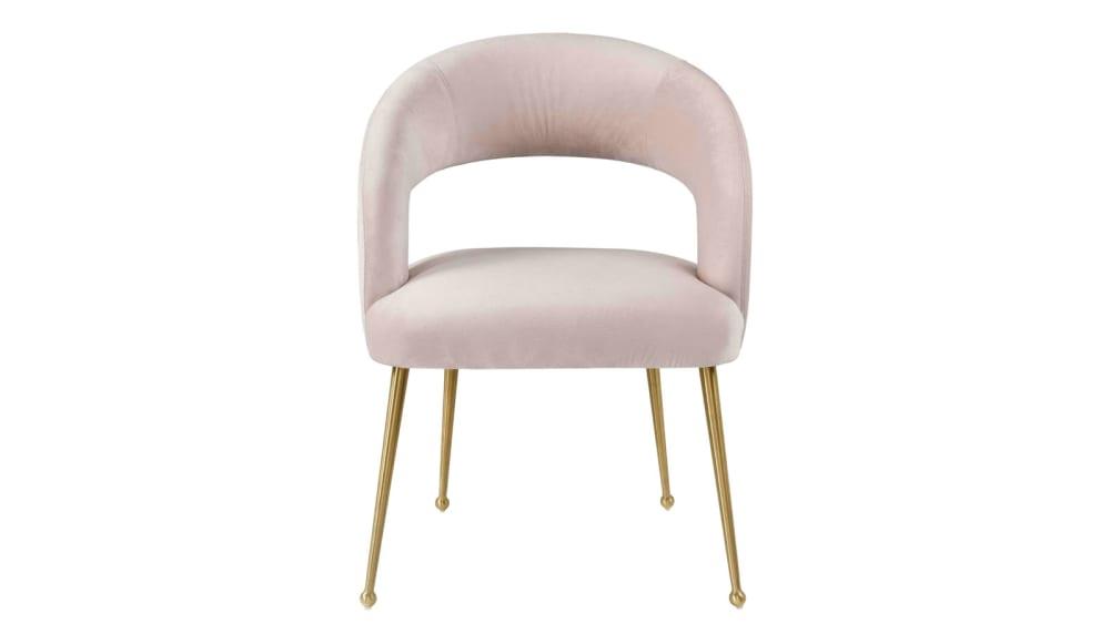 Rocco Blush Velvet Dining Chair, , hi-res