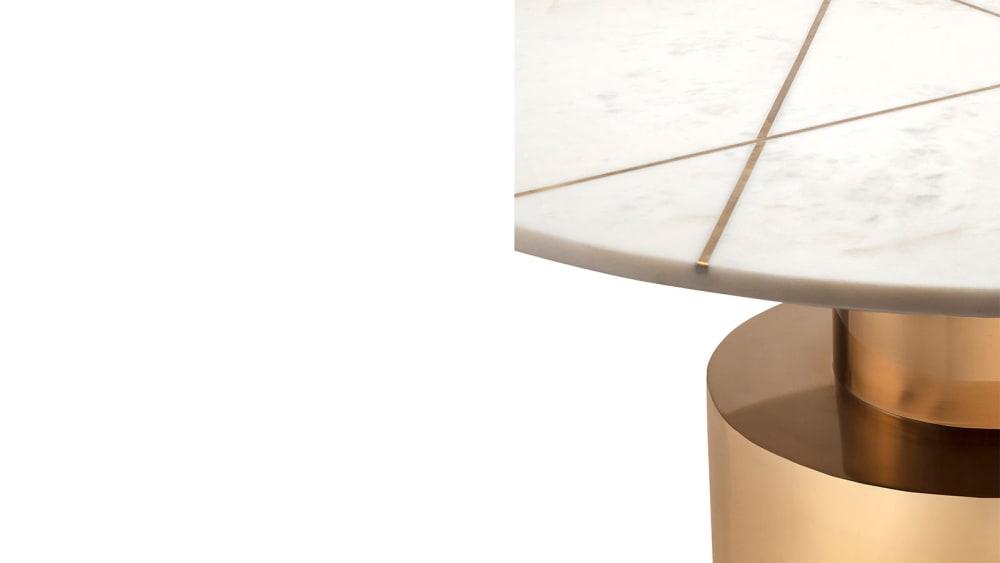 Terzo White Marble Coffee Table, , hi-res