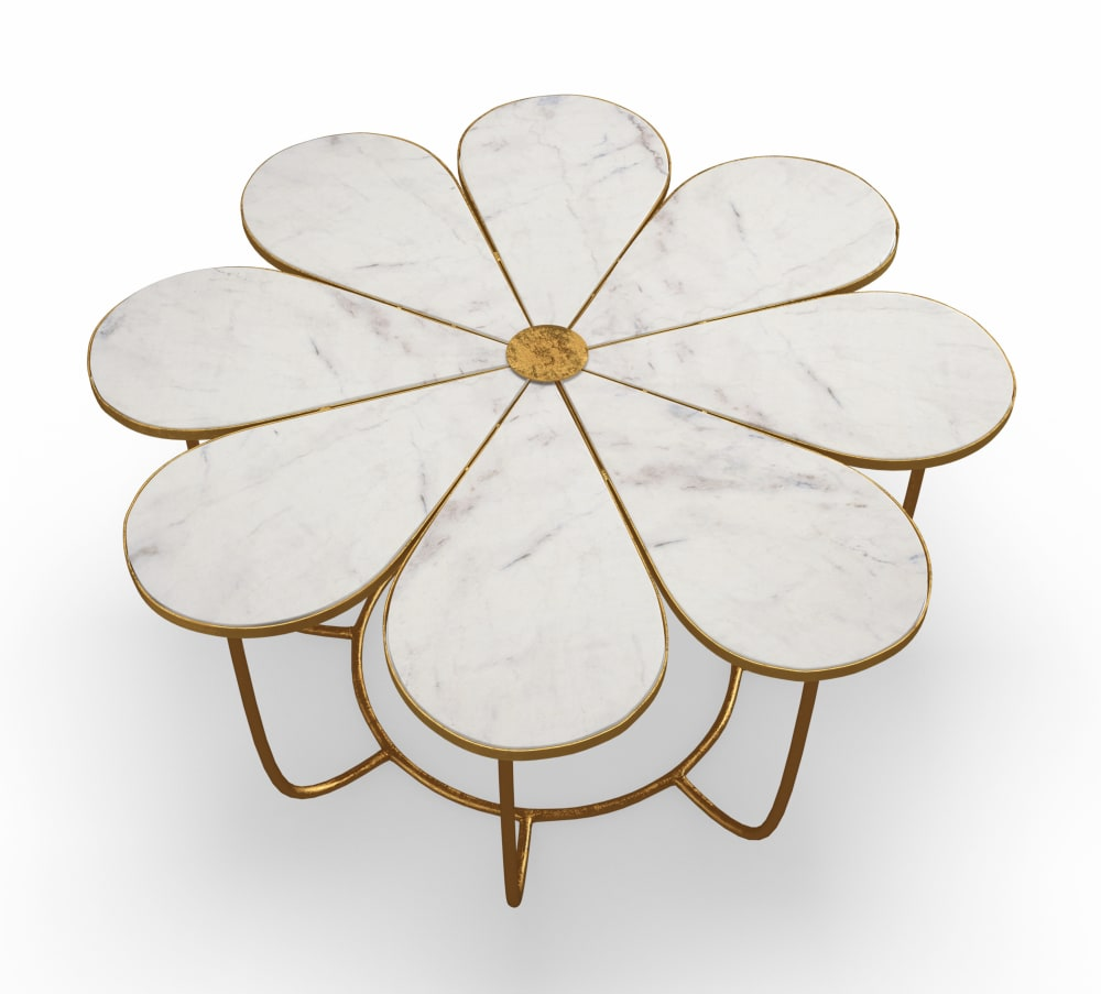 Flower Marble Cocktail Table