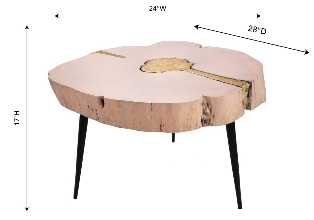 Timber Pink and Brass Coffee Table, , hi-res
