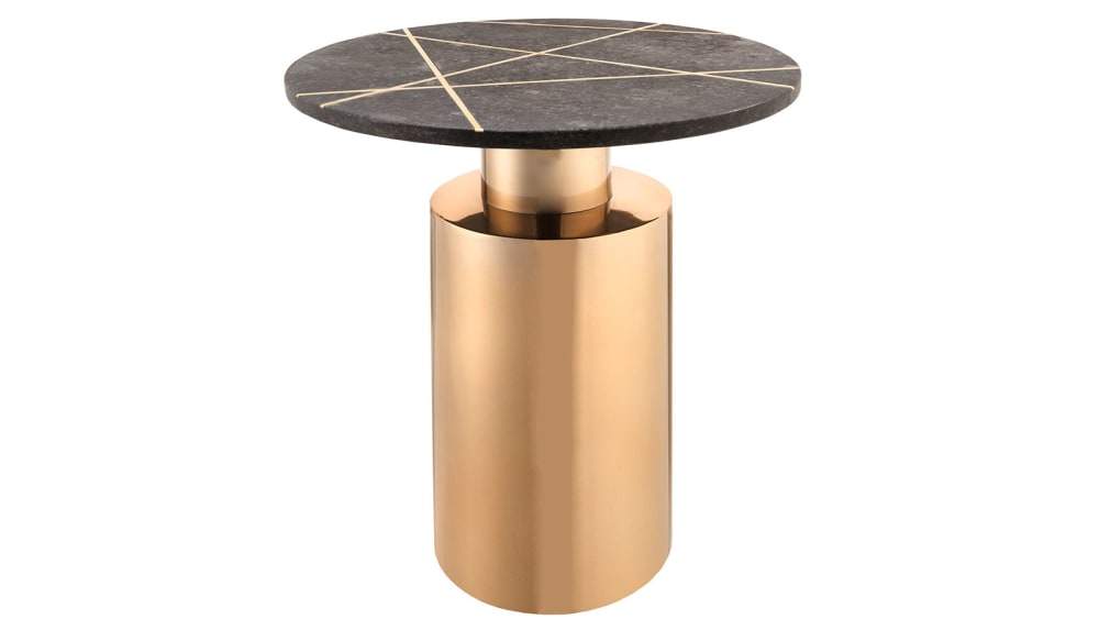 Terzo Black Marble Side Table, , hi-res