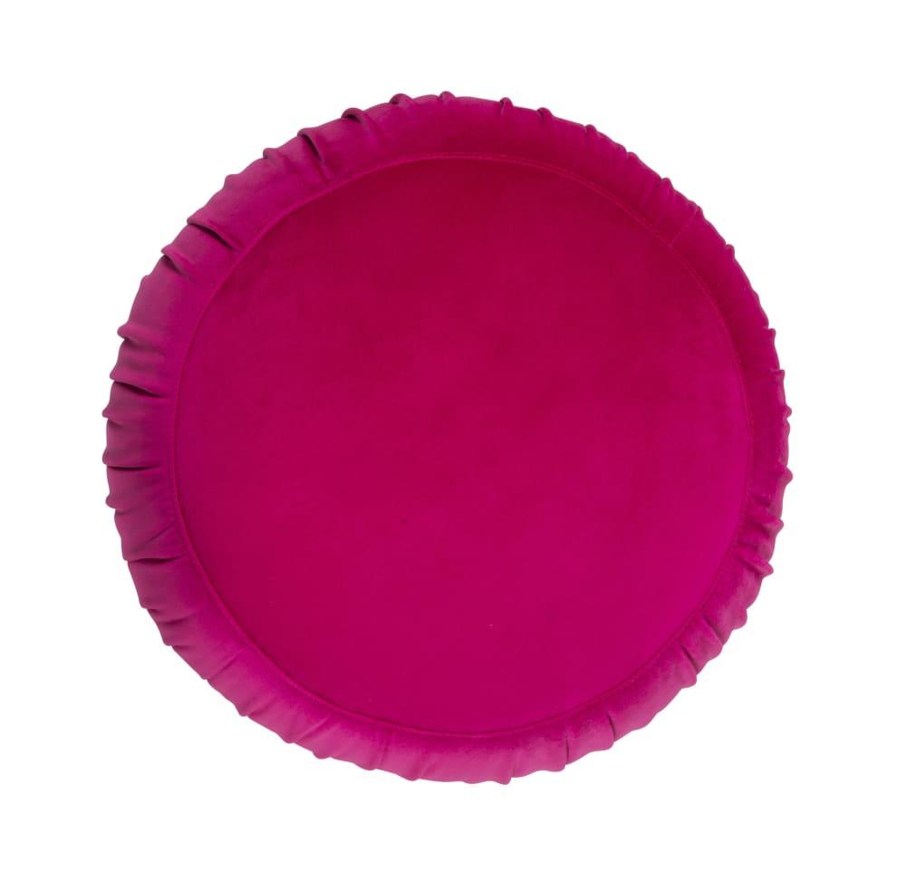 Tulip Pink Velvet Ottoman, , hi-res