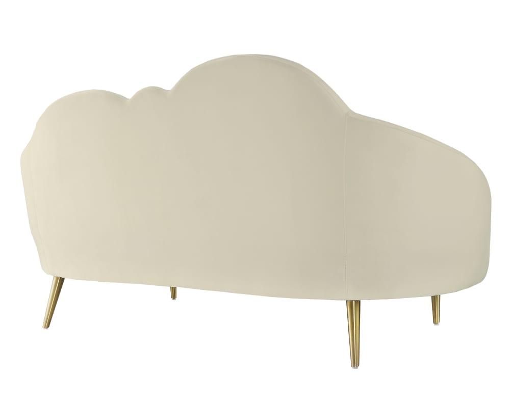 Cloud Cream Velvet Settee