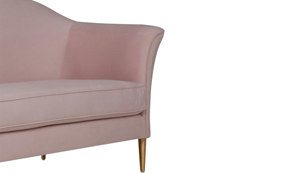 Plato Blush Velvet Sofa, , hi-res