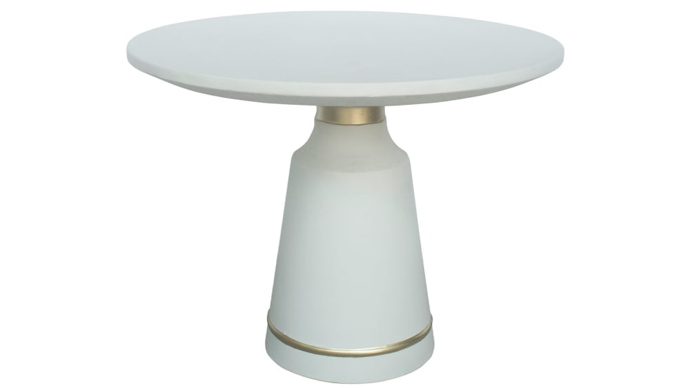Dumbo White Concrete Dining Table