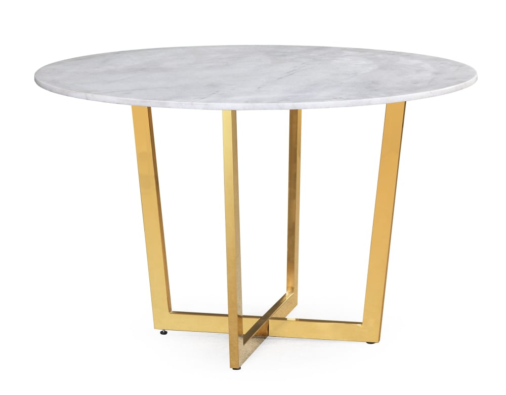 Maxim White Marble Dining Table, , hi-res