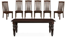 """Needville 82"""" Crawford Six-Chair Dining Set, , small"""